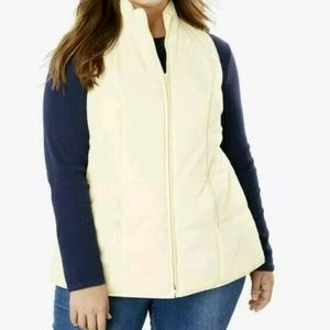 Women plus size Quilted Polyester jacket Vest